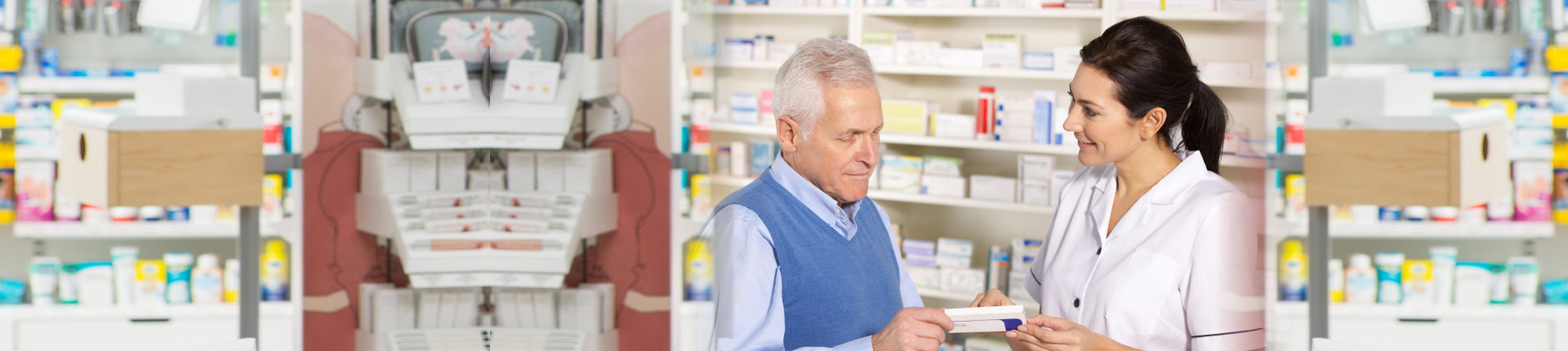 customer asking for assistance with the pharmacist